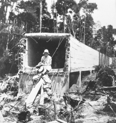 Huia Aqueduct During Construction